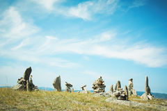 Landscape from stones lake Baikal Royalty Free Stock Photo
