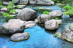 Landscape with stones on the river Stock Photography