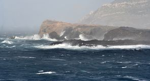 Landscape Of Storm. Mediterranean sea in sardinia on the island of the asinara italy Royalty Free Stock Images
