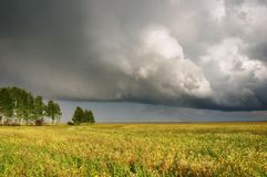 Landscape with storm clouds Royalty Free Stock Image
