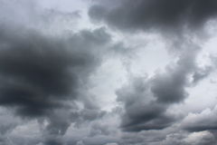 Landscape with storm-clouds Royalty Free Stock Photos