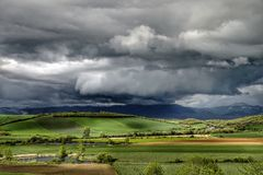 Landscape before the storm Stock Photography