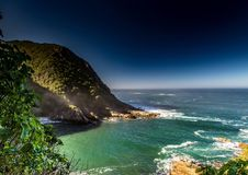 Landscape at the Storms River Mouth at the Indian Ocean Royalty Free Stock Image
