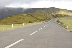Landscape  Straight road on the Mountain Royalty Free Stock Photos