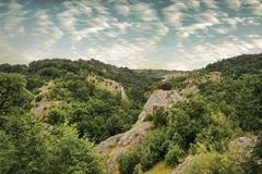 Landscape in the strandja National park ,  observation post in t Royalty Free Stock Photos