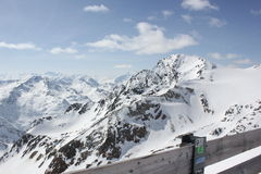 Landscape on the Stubai Glacier Royalty Free Stock Image