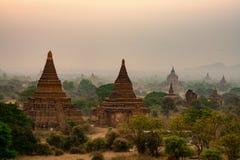 Landscape stupa in Bagan Mandalay Myanmar. Landmark of Asia royalty free stock photos
