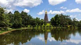 Landscape stupa Royalty Free Stock Images