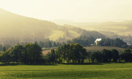 Landscape at Sumava Stock Photo