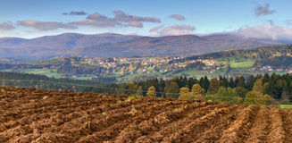 Landscape of Sumava forest, Czech Republic Royalty Free Stock Image