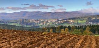 Landscape of Sumava forest, Czech Republic Royalty Free Stock Image