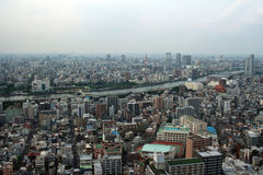 Landscape of Sumida-ku, which is viewed from the East Town of Tokyo Sky Tree. It is the scenery of the Sumida viewed from East Town of Tokyo Sky Tree Royalty Free Stock Photo