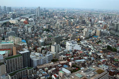 Landscape of Sumida-ku, which is viewed from the East Town of Tokyo Sky Tree. It is the scenery of the Sumida viewed from East Town of Tokyo Sky Tree Stock Photography