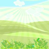 Landscape in summer day Royalty Free Stock Photos