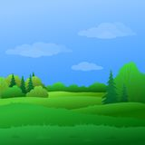 Landscape, summer forest Royalty Free Stock Image