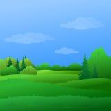 Landscape, summer forest Royalty Free Stock Image