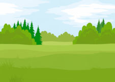 Landscape, Summer Forest, Low Poly Royalty Free Stock Image