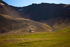 Landscape of summer in the mountains of Iceland. Scandinavia, Europe Royalty Free Stock Image