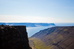 Landscape of summer in the mountains of Iceland Royalty Free Stock Image