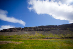 Landscape of summer in the mountains of Iceland. Blue sky in the mountains of Iceland Royalty Free Stock Photo