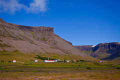 Landscape of summer in the mountains of Iceland. Scandinavia, Europe Stock Photography