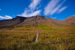 Landscape of summer in the mountains of Iceland. Scandinavia, Europe Royalty Free Stock Images
