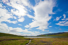 Landscape of summer in the mountains of Iceland Stock Photography