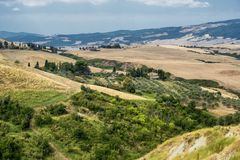 Summer landscape near Volterra, Tuscany Royalty Free Stock Images