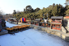 Landscape of Summer Palace in winter Stock Photo