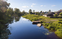 Landscape of summer river in countryside Stock Photography