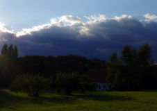 Landscape. Summer landscape in west Bohemia, Europe stock photography