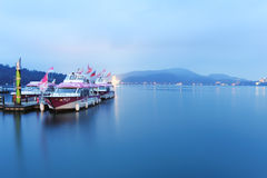 Landscape of sun moon lake Royalty Free Stock Images