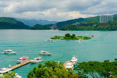 Landscape of sun-moon lake in Taiwan Royalty Free Stock Photo