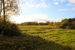 Landscape in sun and shade Royalty Free Stock Photo