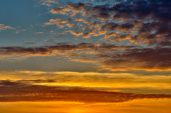 Landscape, sunny dawn Royalty Free Stock Photo