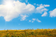 Landscape on a sunny day in september Royalty Free Stock Photo