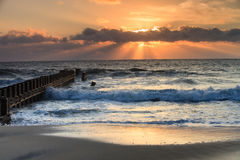 Landscape Sunrise Beach Outer Banks North Carolina Royalty Free Stock Photography