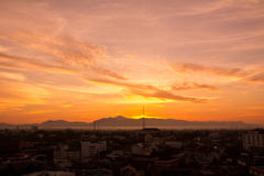 Landscape of sunrise in the country of Thailand Stock Images