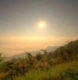 Landscape of sunrise and fog at Doi-Samer-Dao, northern Thailand. Landscape of sunrise and fog at Doi-Samer-Dao Si Nan National Park , northern Thailand (HDR Stock Photography