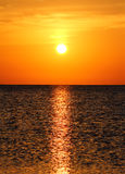 Landscape with sunrise over sea Royalty Free Stock Images