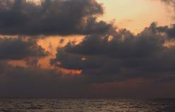 Picture set Landscape sunrise Songkhla Sea. Landscape sunrise or sunset at the Songkhla Sea stock image