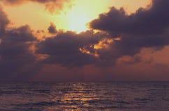 Picture set Landscape sunrise Songkhla Sea. Landscape sunrise or sunset at the Songkhla Sea stock photography