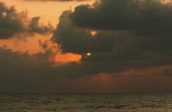 Picture set. Landscape sunrise Songkhla Sea. Landscape sunrise or sunset at the Songkhla Sea stock photos