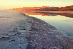 Landscape at sunrise in the village of Coqueza, Uyuni salt flat, plateau Bolivia Royalty Free Stock Images