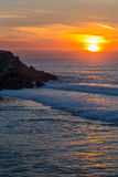 Landscape sunset atlantic coastline Stock Image