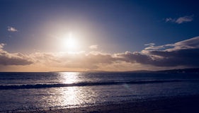 Landscape of a sunset on the beach Stock Photography