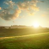 Landscape on sunset Royalty Free Stock Photos