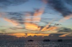 Landscape at sunset Stock Images