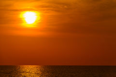Landscape of sunset with at Nai Yang Beach, Phuket Province, Tha Stock Photo