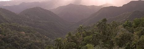 Landscape. At the sunset in the Sierra Maestra, Guantanamo Province, Cuba Stock Photos